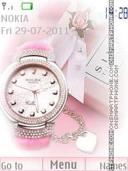 Tenderness Rolex Clock es el tema de pantalla