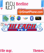 Bleach 01 theme screenshot