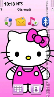 Hello Kitty 37 theme screenshot