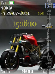 Bike With Ringtone theme screenshot