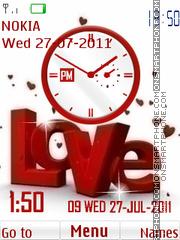 Love Clock Dual theme screenshot
