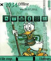 Samurai Duck theme screenshot