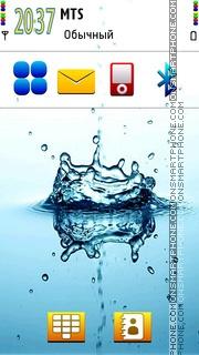 Water se es el tema de pantalla