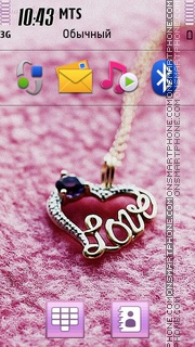 Pendants Love theme screenshot