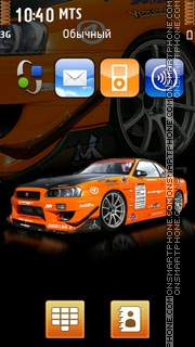 Nissan Skyline Gtr 10 theme screenshot