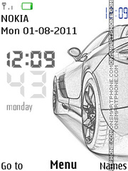 Porshce clock theme screenshot