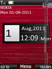 Abstract Clock theme screenshot