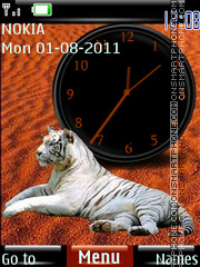 Tigress in the Desert By ROMB39 theme screenshot