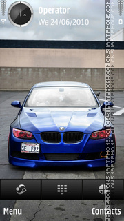 Bmw m5 red phare theme screenshot