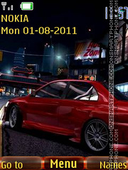 Nfs Carbon tema screenshot