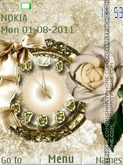 Flower theme clock theme screenshot