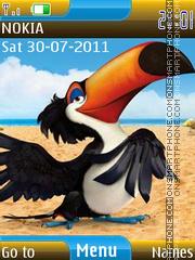 Angry birds rio es el tema de pantalla