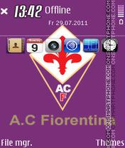 ACF Fiorentina Calcio theme screenshot