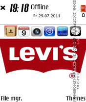 Levis Jeans theme screenshot