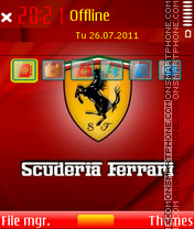Scuderia ferrari 01 theme screenshot
