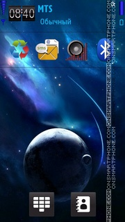 Blue planet. theme screenshot
