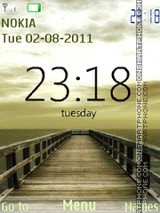 Nature Clock tema screenshot