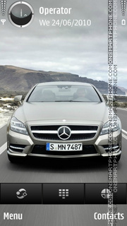 Mercedes benz silver theme screenshot