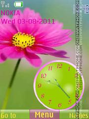Kosmeya Clock theme screenshot