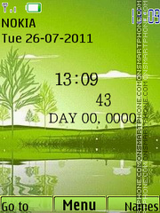Nature Clock 08 theme screenshot