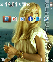 Claudia Schiffer - Supermodel tema screenshot