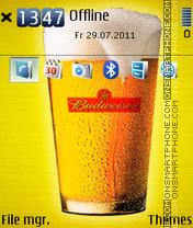 Budweiser 07 theme screenshot