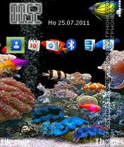 Animated Aquarium 03 theme screenshot