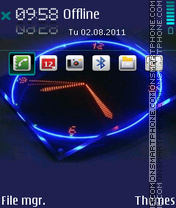 Cute Clock Blue theme screenshot