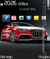 Red Audi 02 theme screenshot