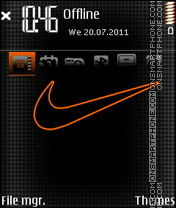 Nike Black Red theme screenshot