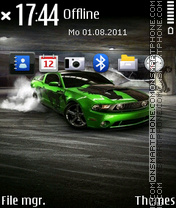 Green Car 04 theme screenshot