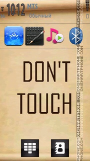 Dont Touch 20 tema screenshot