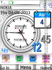 White Clocks theme screenshot
