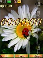 Flower macro swf theme screenshot