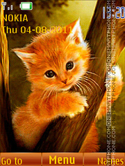 Ginger Kitty Theme-Screenshot