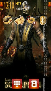 Mortal Kombat 2011-Scorpion theme screenshot