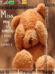 Sad Teddy theme screenshot