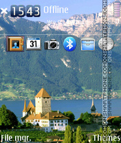 Swiss Alps - Schweizer Alpen theme screenshot