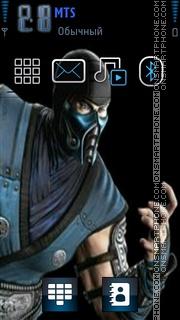 MK2011 sub zero and cybersub zero theme screenshot