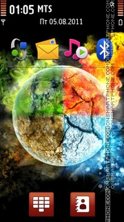 4 Elements 01 theme screenshot