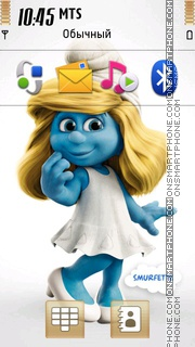 Smurfette theme screenshot