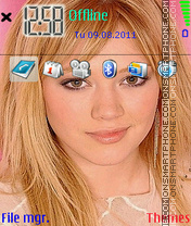 Hilary Duff 02 theme screenshot