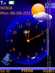 Скриншот темы Neon Frog By ROMB39
