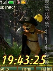 Cat from Shrek swf theme screenshot