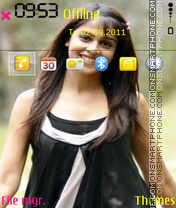 Genelia Dsouza 08 theme screenshot