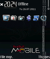 Red Bull Mobile 01 theme screenshot