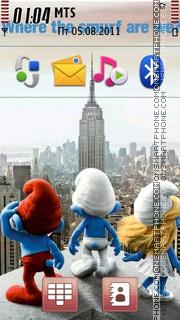 2011 The Smurfs Movie theme screenshot
