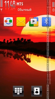 Sunset 22 tema screenshot