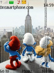 2011 The Smurfs Movie 01 theme screenshot
