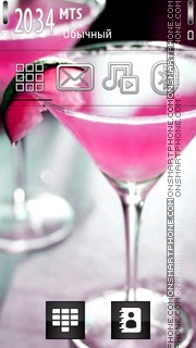 Pink Cocktail theme screenshot